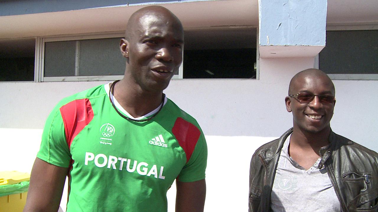 Francis Obikwelu & Bambo Akani in Faro, Portugal