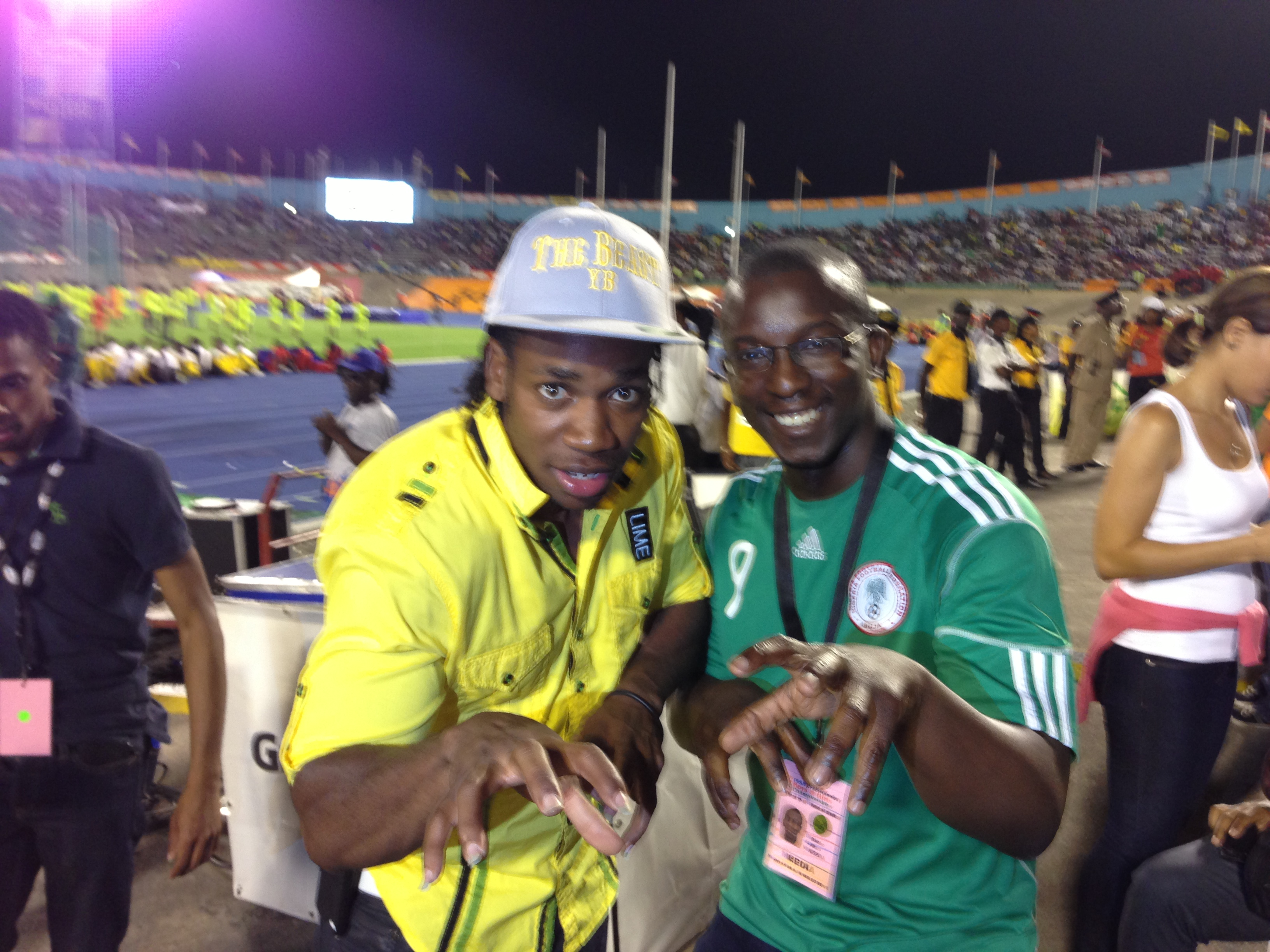 Yohan Blake and Bambo Akani at CHAMPS