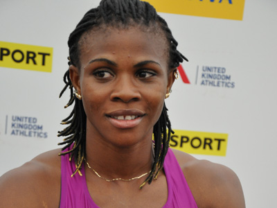 Blessing Okagbare in London