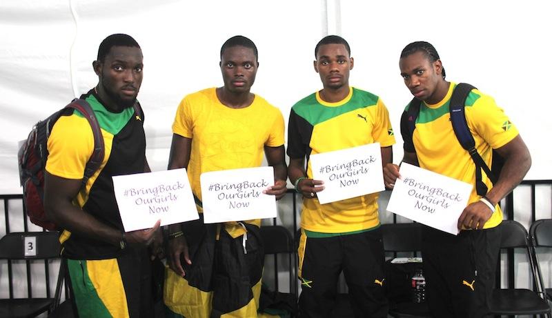 Jamaica, 4x200m GOLD & World Record, World Relays 2014 (L-R, Nickel Ashmeade, Jermaine Brown, Warren Weir, Yohan Blake