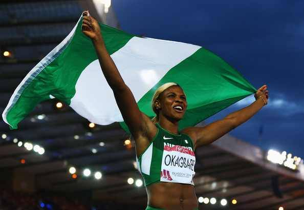 Blessing wins GOLD and flies Naija flag