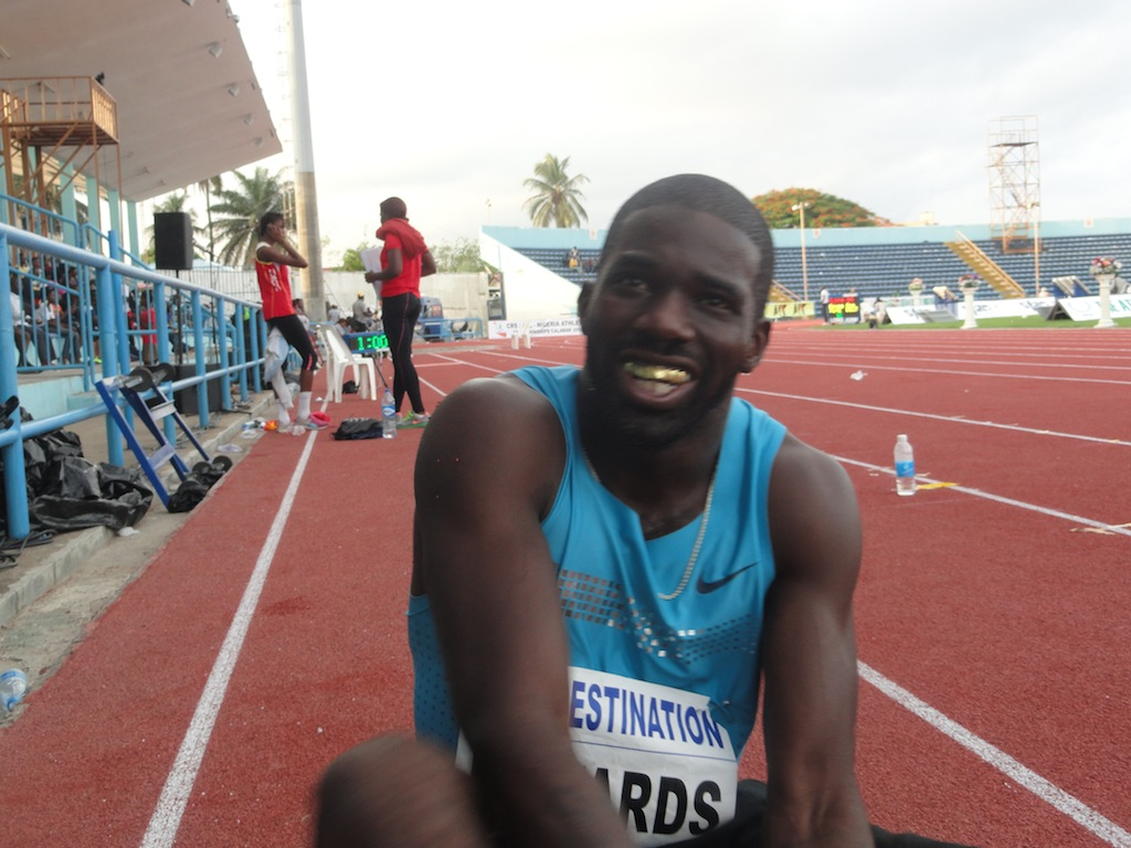 Monzavous 'Jolomi' Edwards, recently switched allegiances from Team USA, and placed second in the 100 metres at the 2014 Nigerian Trials