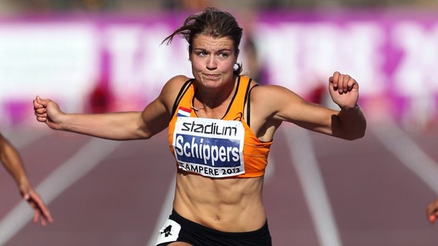 Dafne Scippers excelled in her first season of focusing on the sprint, breaking the 100m/200m NRs several times. (Photo Credit: Getty Images)
