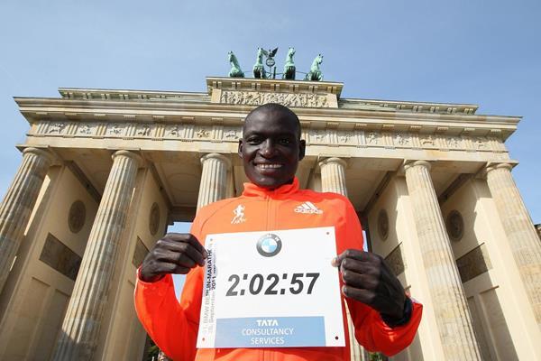 Dennis Kimetto in Berlin the day after his marathon world record (Photo credit: www.photorun.net)
