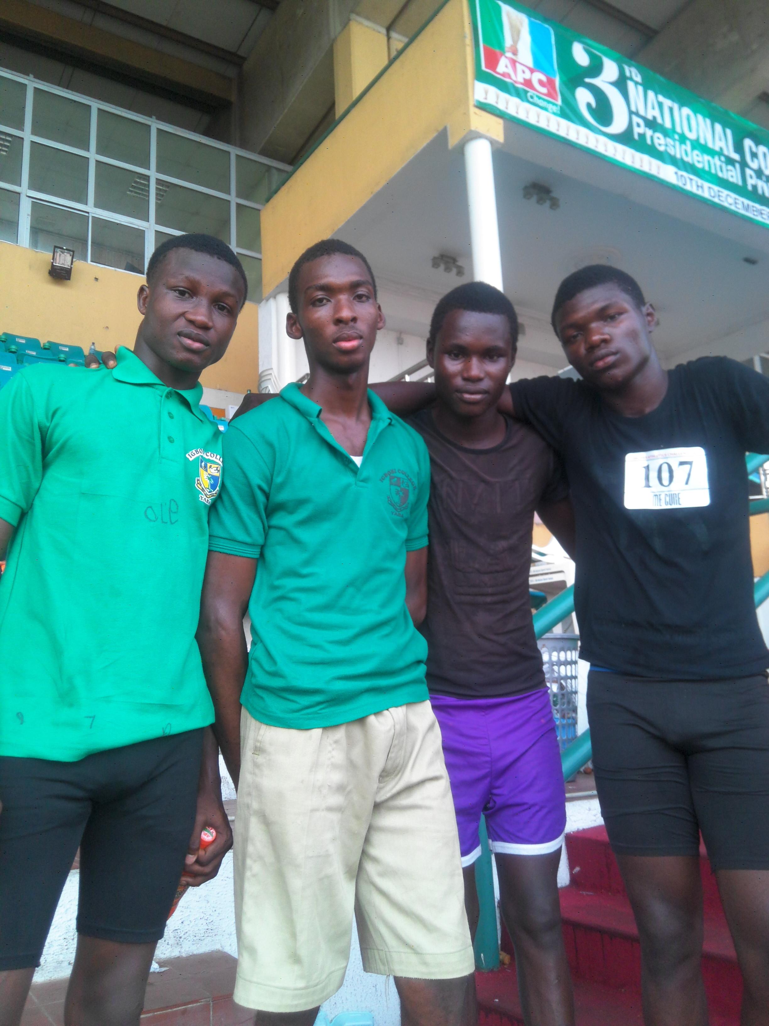 Igbobi College relay team.