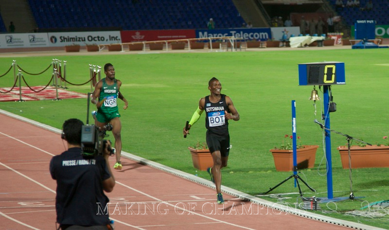 Isaac Makwala shone for Botswana this year, including anchoring the 4x400m national team to the African title ahead of Nigeria.