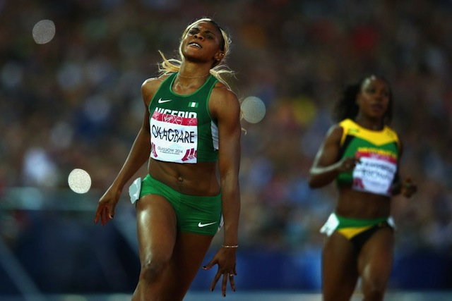 The Nigerian was no doubt the star of the Commonwealth Games.  (Photo Credit: Julian Finney/Getty Images)