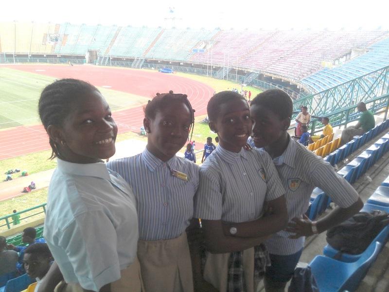 Star International girls' relay team took the day.