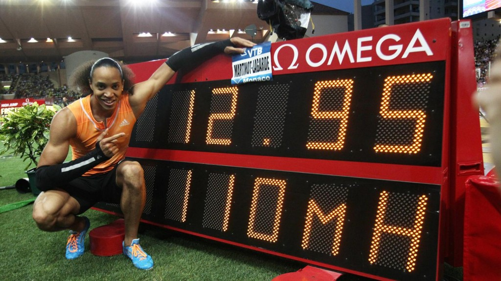 Martinot-Lagarde ran a French NR of 12.95s in the Monaco leg of the Diamond League.  (Photo Credit: AFP)