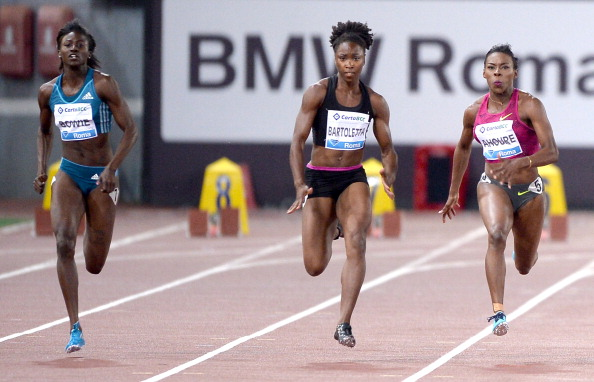 Tori Bowie (L) had a phenomenal 2014. (Photo Credit: Getty Images)