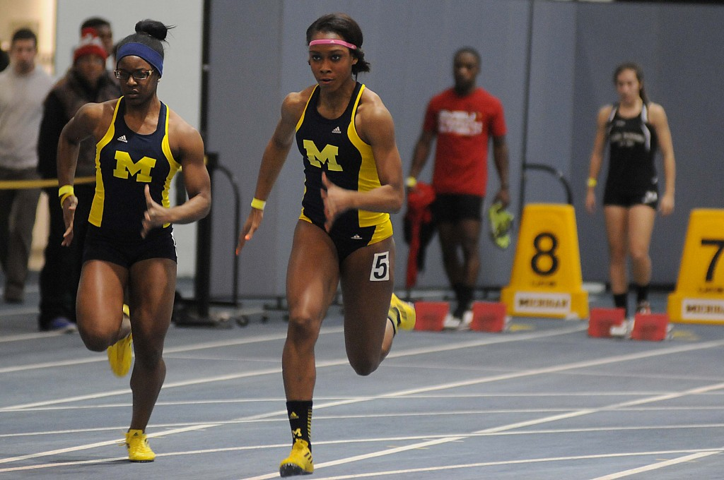 Cindy Ofili shone in her first two meets of sophomore season. (Photo Credit: Ryan Reiss/Michigan Daily)