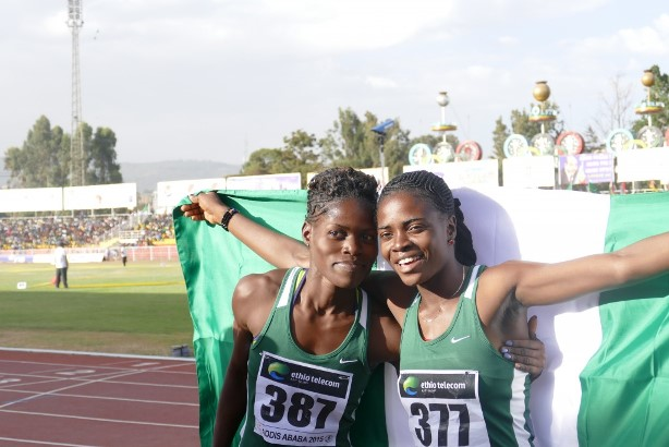 Oluwatobi Amusan (Right) won Nigeria's first GOLD medal in the 100m Hurdles.