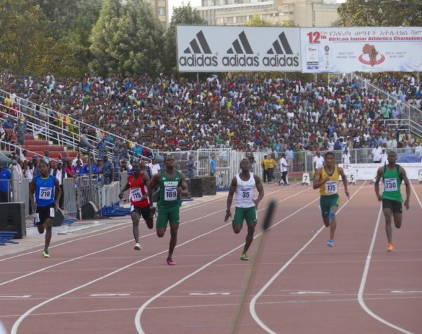 Divine Oduduru emerged African Junior Champion in the men's 100m.
