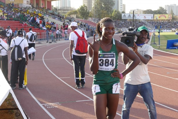 Praise Idamadudu is a top contender for GOLD in the women's 200m.