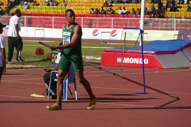 Ituah Enahoro secured his first medal for Nigeria in the Pole Vault.