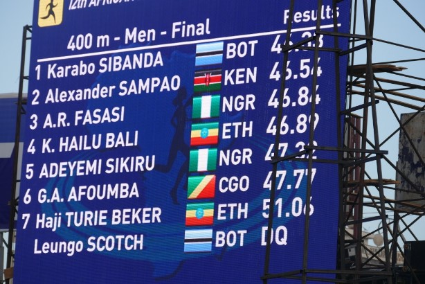 Adekunle Fasasi won Bronze in the men's 400m while Adeyemi Sikiru placed 5th.