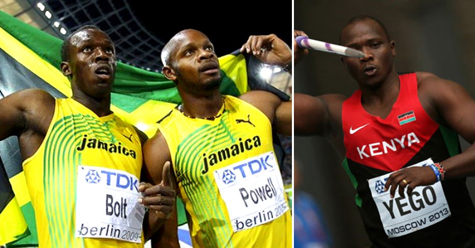Usain Bolt, Asafa Powell & Julius Yego