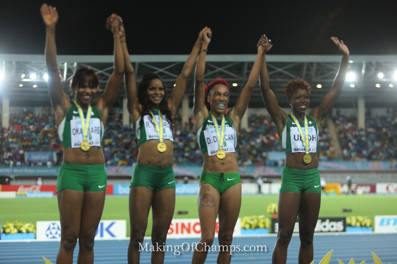 Nigeria's women are 4x200m World Champions