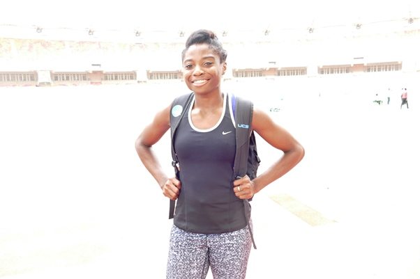 US-based Long Jumper, Euphemia Edem participated in, and won her first AFN Golden League event.