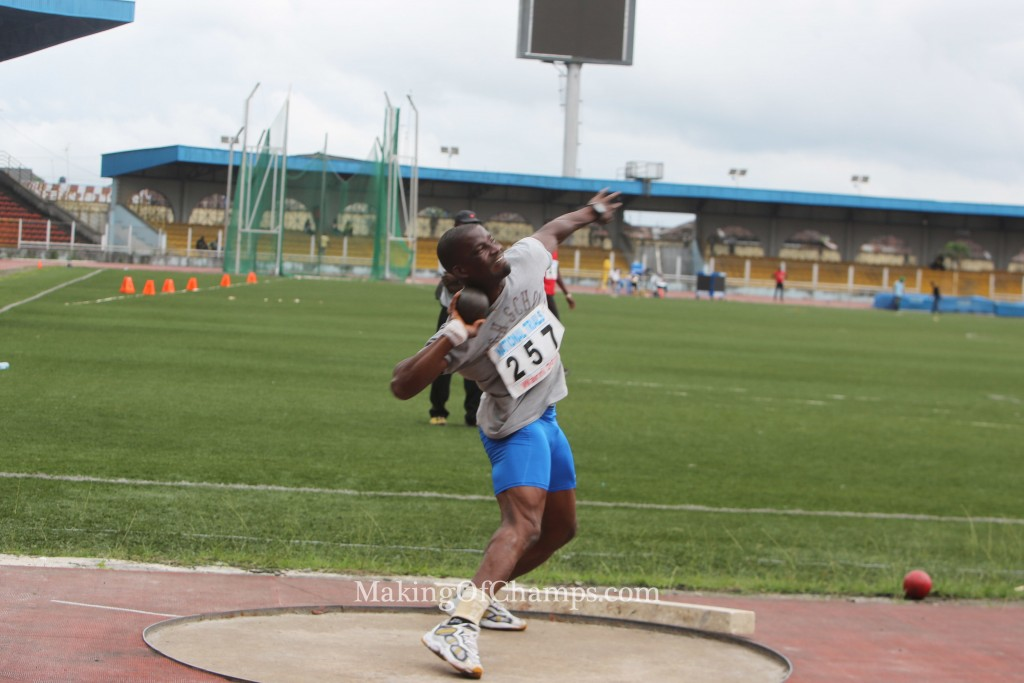 A lot of field events were competed in on the first day of the National Trials.