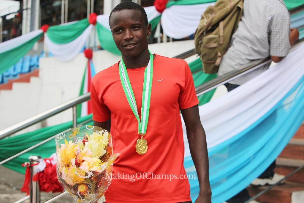 Ismaila Sadjo of Cross River State won the men's 5000m.