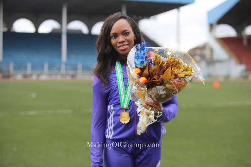 Gloria Asumnu is Nigeria's new women's 100m champion.
