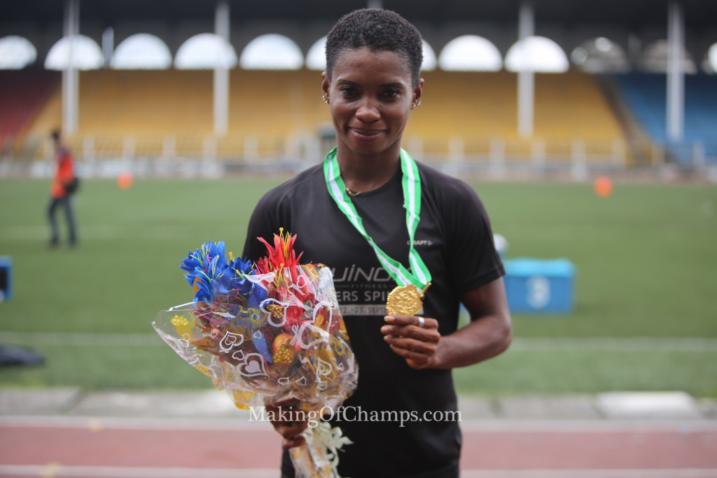 Chinazom Amadi clinched her first national title in the women's Long Jump.