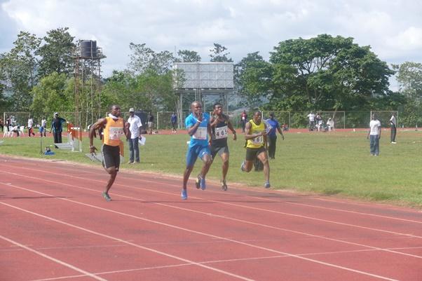 Nicholas Imhoaperamhe dominated the men's 100m event.
