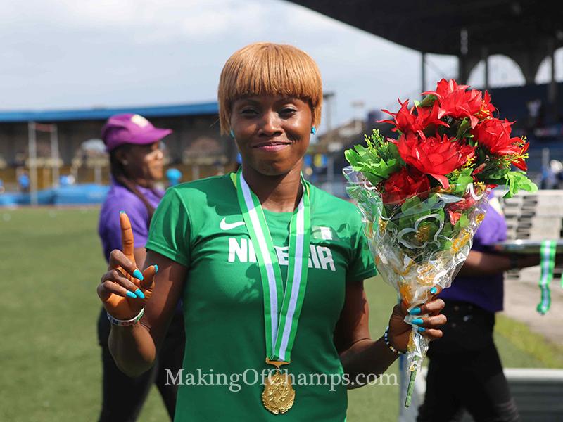 Blessing Ibrahim won the women's Triple Jump.