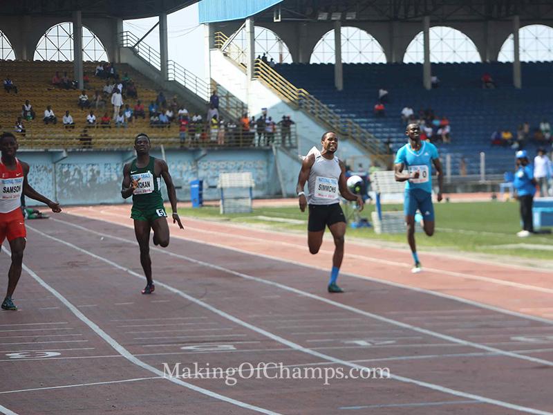 The men's 400m final was an explosive race.