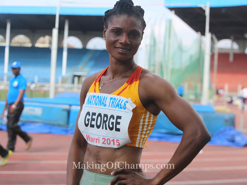 Okon George is the fastest African woman in 2015.