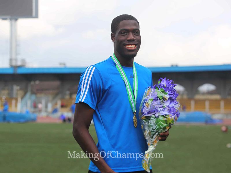 Chidi Okezie emerged the surprise 400m men's champion.