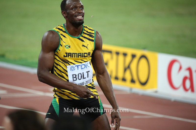 Usain Bolt delivered when it mattered most, ending Gatlin's two-year unbeaten streak to defend his title in Beijing.