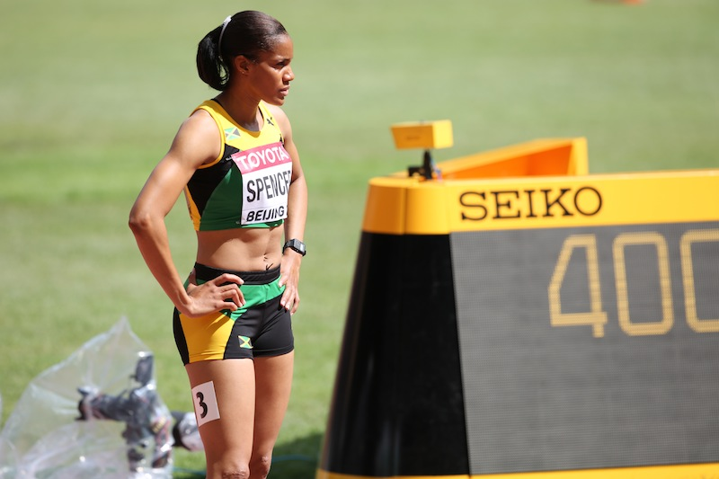 Commonwealth champion, Kaliese Spencer has made a return to the track after her absence at the Diamond League.