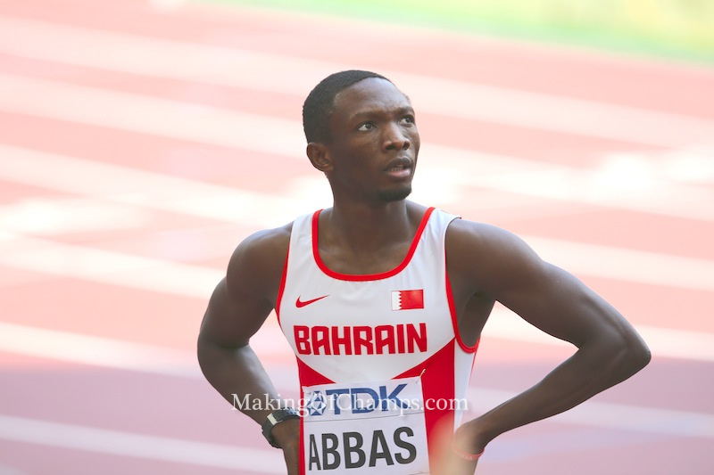 Nigerian born Bahraini athlete, Abbas Abubakar Abbas didn't make it to the final.