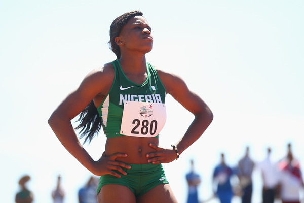 Aniekeme Alphonsus qualified for the semis of the Girls' 200m. (Photo Credit: Mark Kolbe/Getty Images AsiaPac)