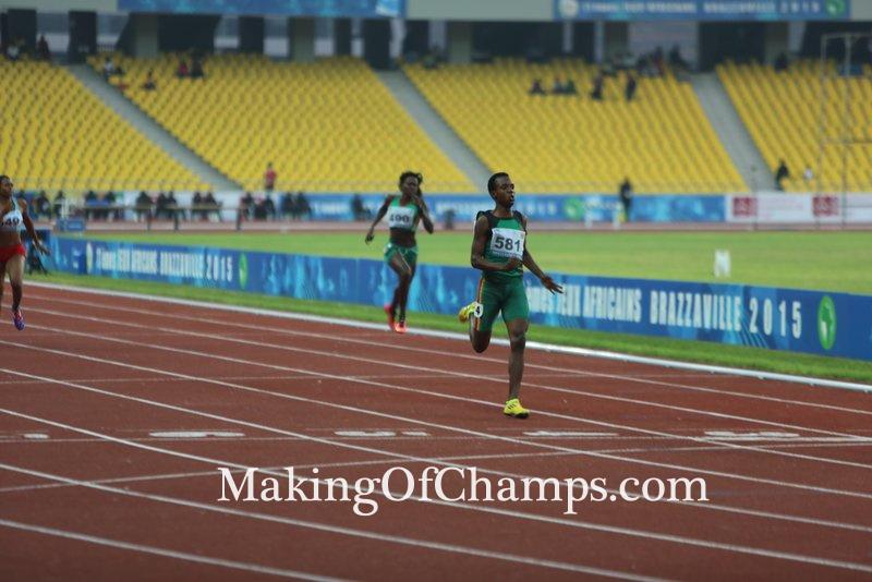 Zanbia's Kabange Mupopo prevented a Nigeria 1-2-3 in the women's 400m final.