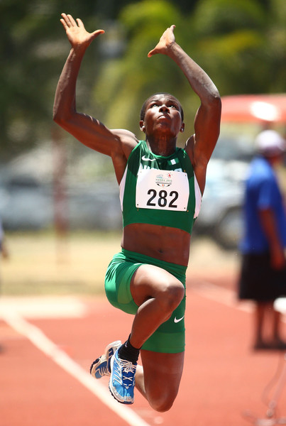 Uche Brown placed 5th in the Girls' Long Jump event. (Photo Credit: Scott Barbour/Getty Images AsiaPac)