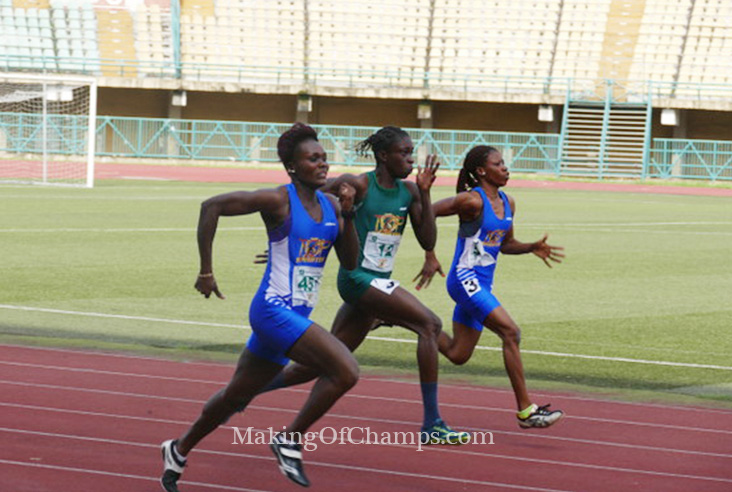 The athletes rekindled their rivalry at the Lagos finals.