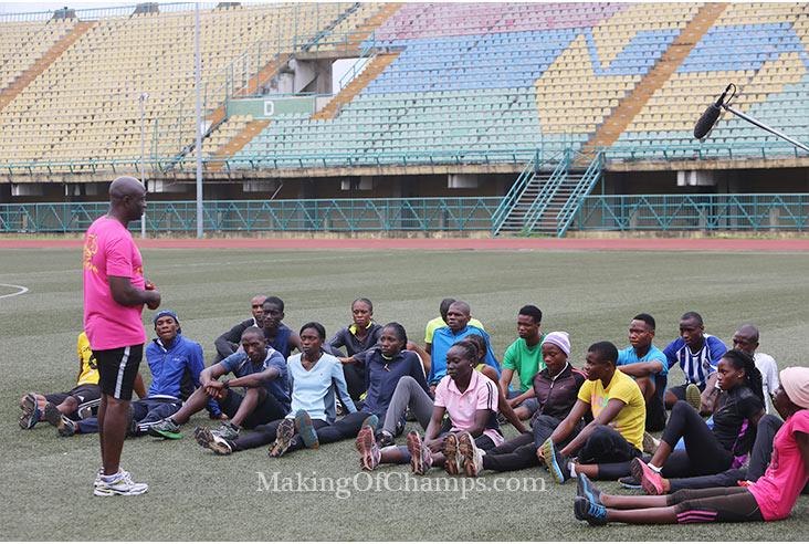 Coach Uchenna Emedolu presented a formidable team at the Lagos finals.