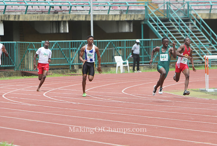 David Nnorom finished 2nd in the Boys' 200m race.