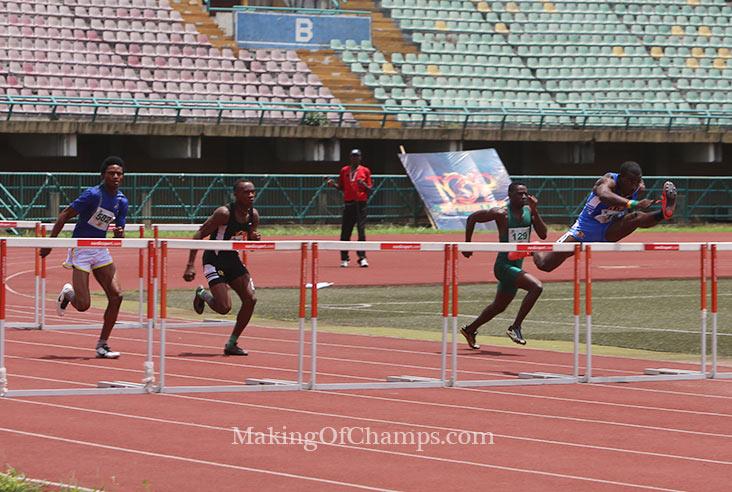 Bashiru Abdullahi won the 110 Hurdles.
