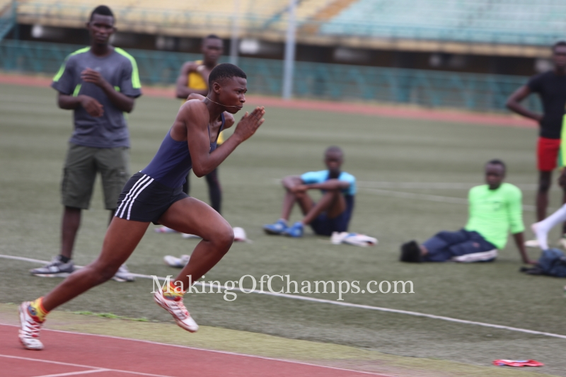 Blessing Obariehu ran the fastest time in the Junior Girls' 400m.
