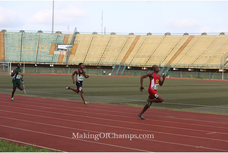 Afeez Abdulrahman was unstoppable in the men's 400m.