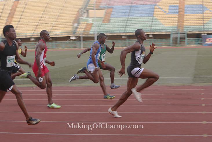 Thankgod Igube dominated the men's 200m.