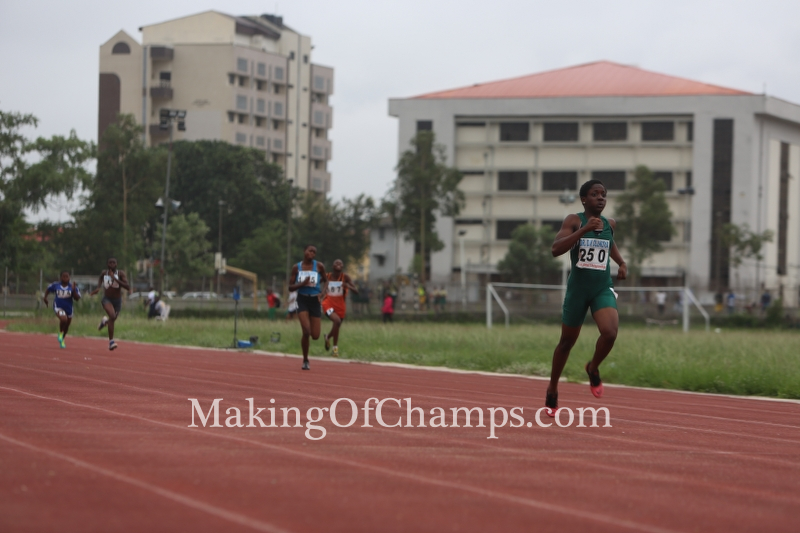 Joy Udo-Gabriel overcame a disappointment in the 100m race with victory in her 200m heat.