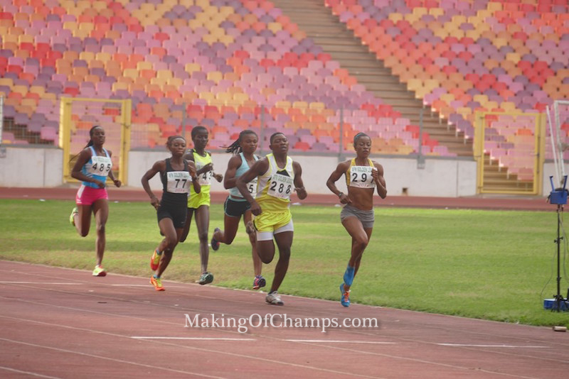 Philomena Ikehandu led the women's 800m race.