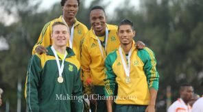 van Niekerk gifted the team with a monstrous second leg run which changed the tide for the South Africans.