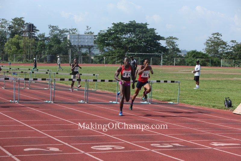 Oluwakemi Francis ran a PB of 13.47s in the women's 100m Hurdles
