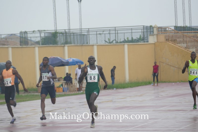Isah Salihu clocked an SB of 46.85s to win the men's 400m final.